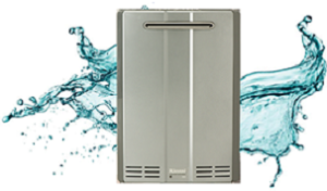 An image of Rinnai's tankless water heater.